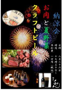 クラフトビール,夏野菜,お肉,納涼会