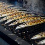 秋刀魚の炭火焼