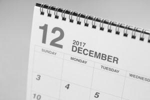 12月のカレンダー 師走